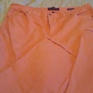 Gloria Vanderbilt  Plus Size 22W Coral Peach Jeans